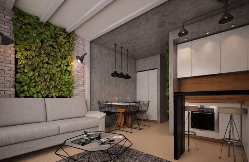 Серые поверхности бетонного потолка