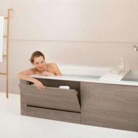 экран в ванной комнате фото интерьер