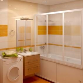 экран в ванной комнате фото оформление