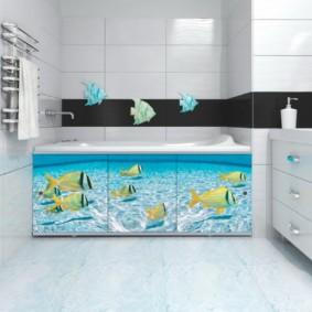экран в ванной комнате идеи оформления