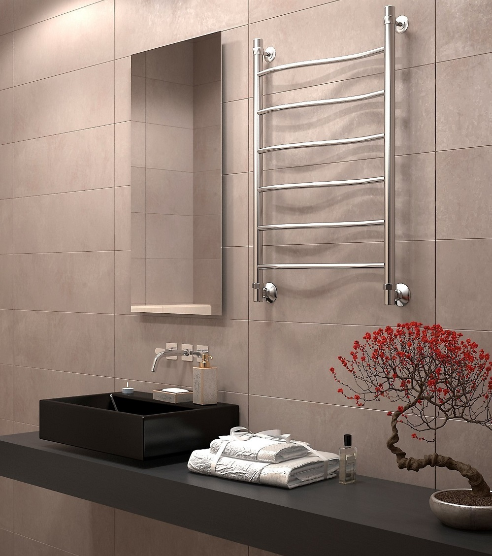 электрический полотенцесушитель в ванную дизайн