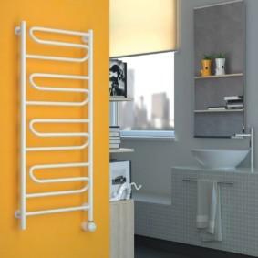 электрический полотенцесушитель в ванную идеи дизайна