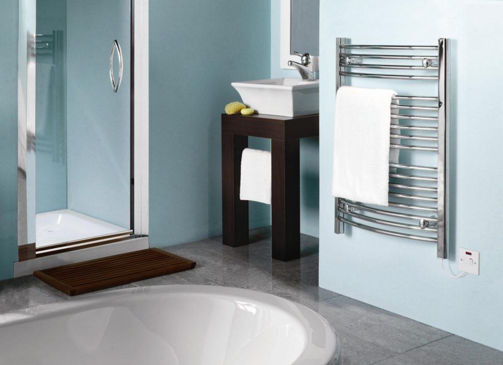электрический полотенцесушитель в ванную идеи видов