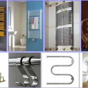 электрический полотенцесушитель в ванную интерьер идеи