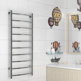 электрический полотенцесушитель в ванную оформление