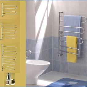 электрический полотенцесушитель в ванную оформление фото