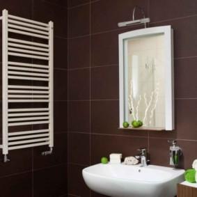электрический полотенцесушитель в ванную варианты декора