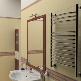 электрический полотенцесушитель в ванную виды интерьера