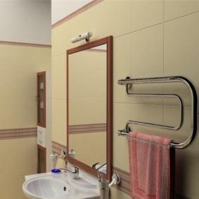 электрический полотенцесушитель в ванную виды оформления
