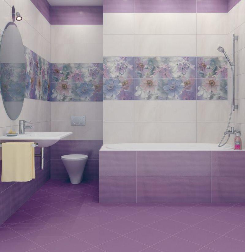 Напольная плитка фиолетового цвета