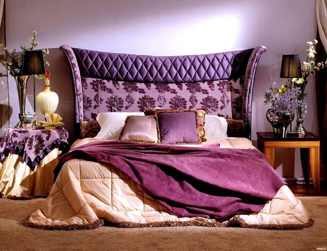 фиолетовая спальня декор фото