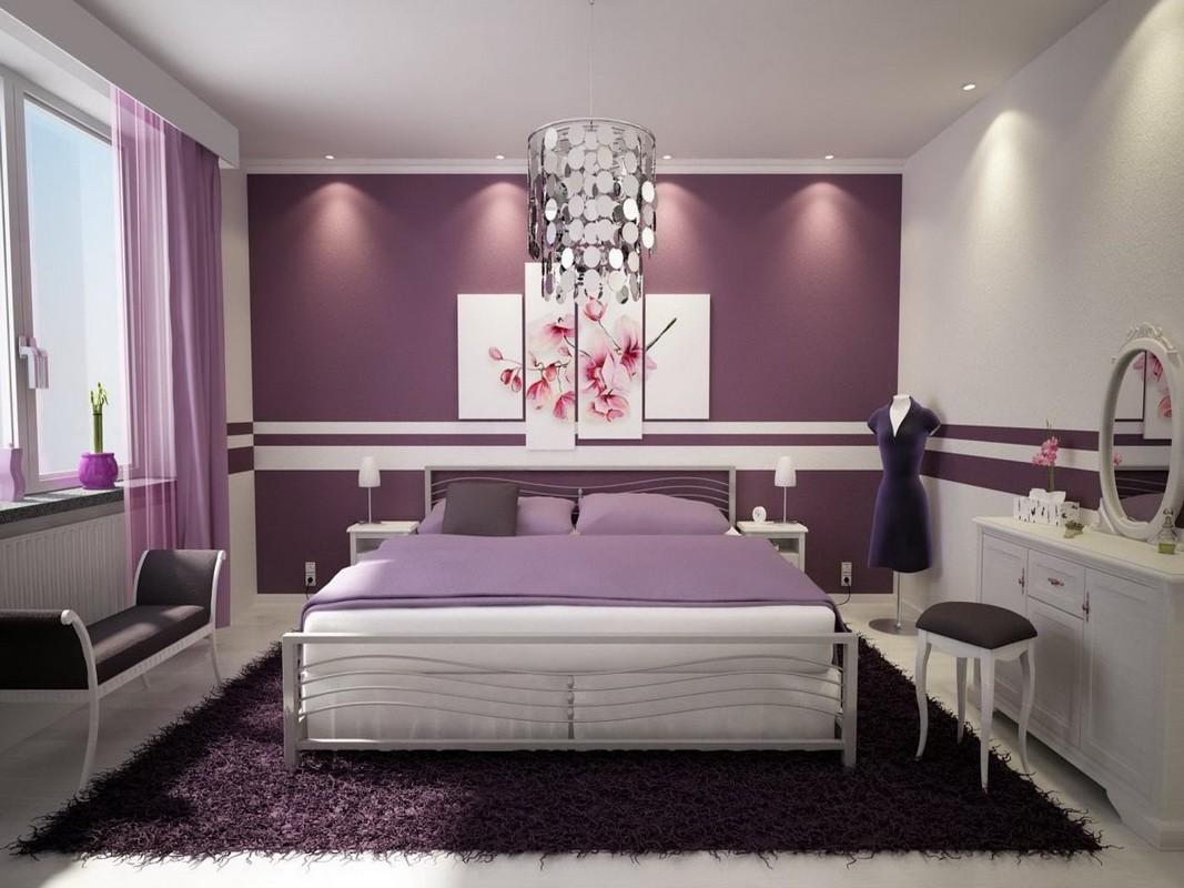 фиолетовая спальня фото варианты