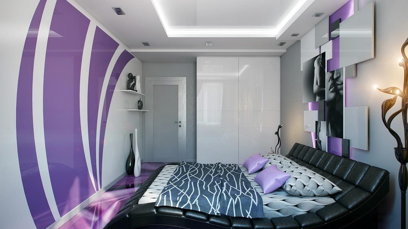 фиолетовая спальня идеи декор