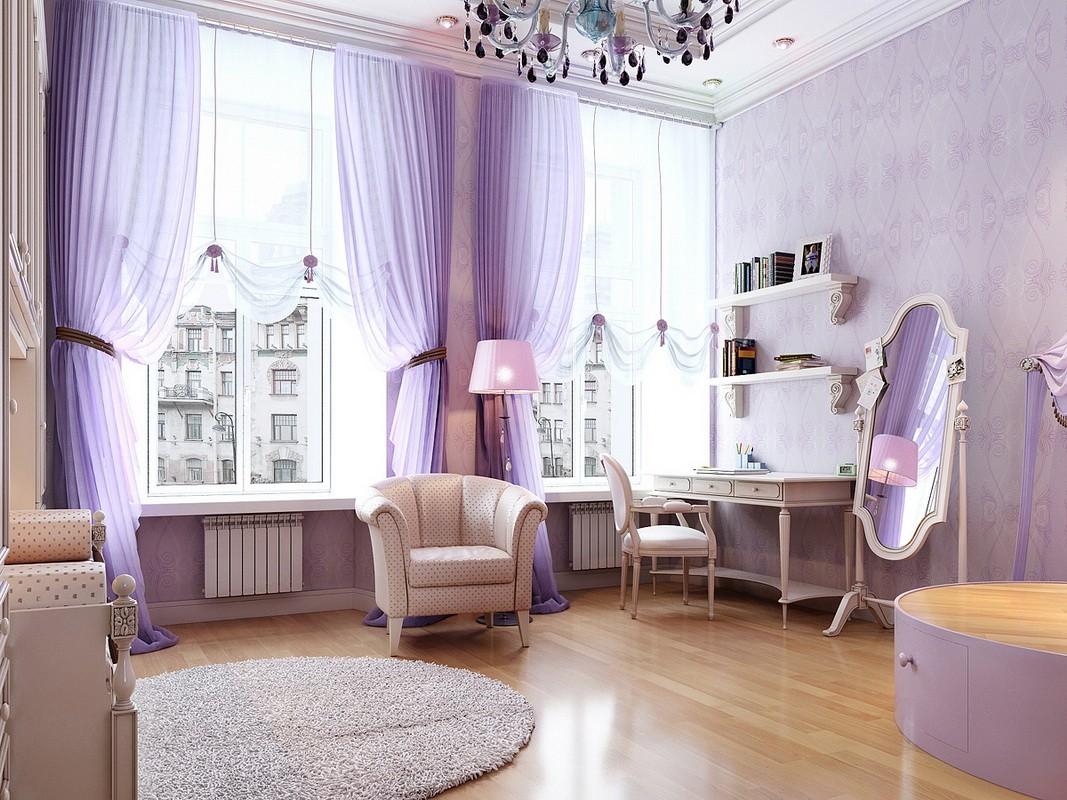 фиолетовая спальня идеи дизайна
