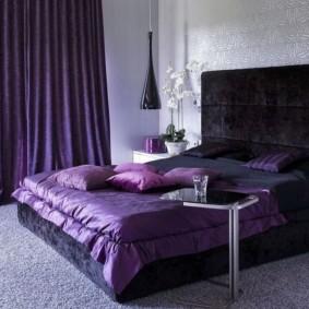 фиолетовая спальня идеи интерьера