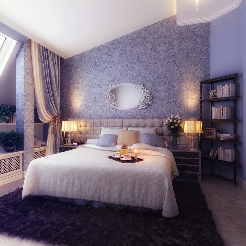 фиолетовая спальня идеи вариантов
