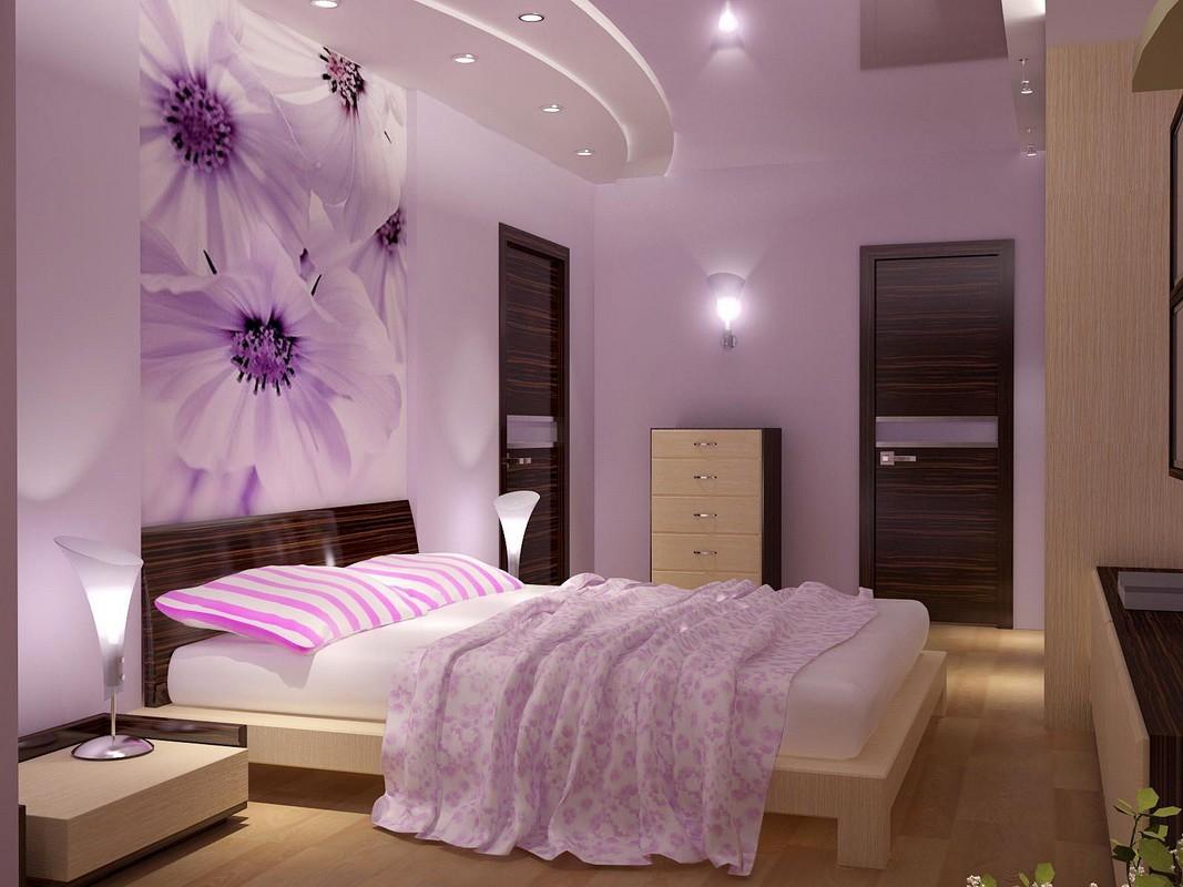 фиолетовая спальня идеи варианты