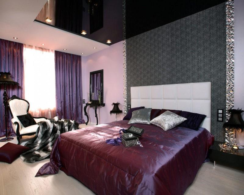 фиолетовая спальня идеи видов