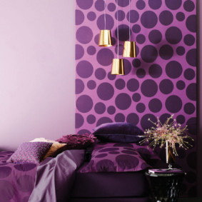 фиолетовая спальня идеи виды