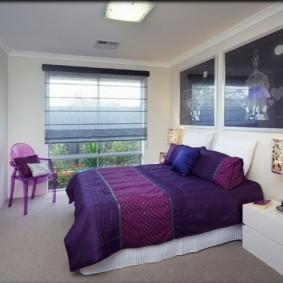 фиолетовая спальня интерьер идеи