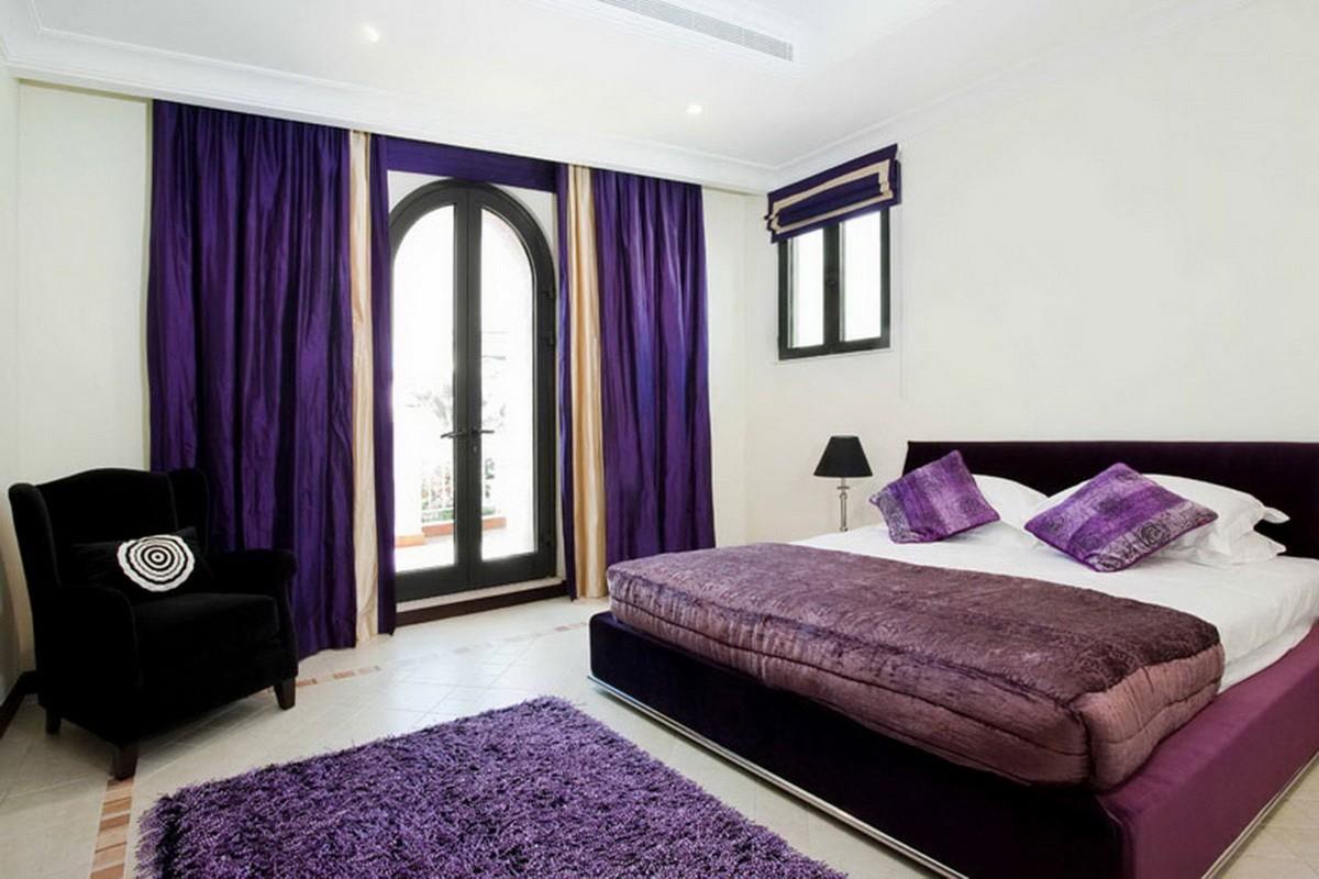 фиолетовая спальня варианты фото