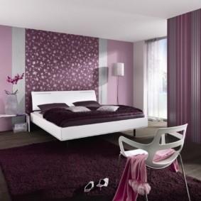фиолетовая спальня виды