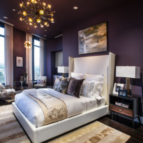 фиолетовая спальня виды идеи