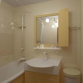 интерьер ванной комнаты в светлых оттенках