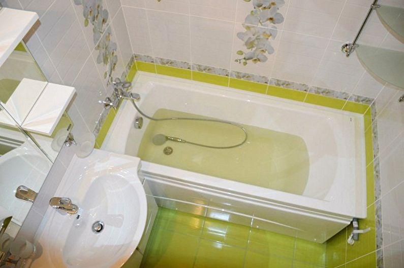 Ремонт ванны в хрущевке в картинках