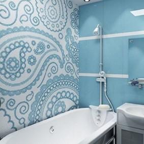 Мозаика в интерьере современной ванной