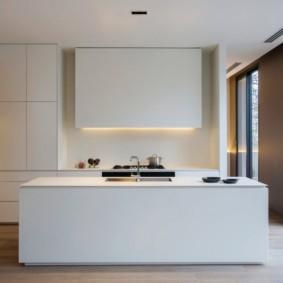Дизайн кухни без декора в частном доме