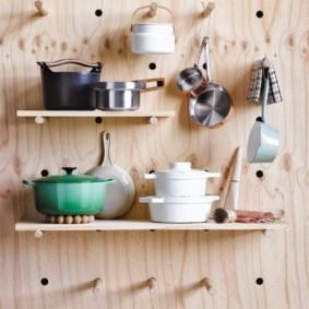 Самодельные полочки для декора кухни