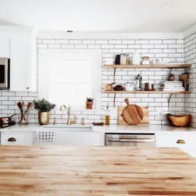 Кухонная столешница из клееного щита