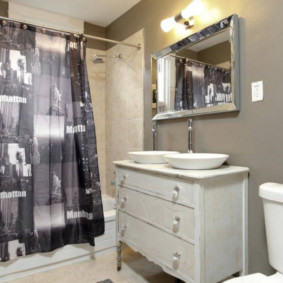 Занавески для ванной комнаты с фотопечатью