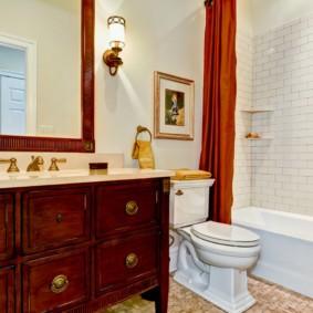 Интерьер ванной в стиле классики