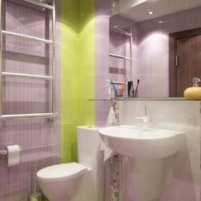 Дизайн компактной ванной в пастельных тонах
