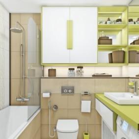 Дизайн ванной с подвесным унитазом