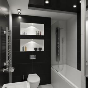 Черный цвет в дизайне ванной комнаты