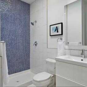 Фото в черной рамке на стене ванной