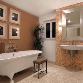 Модульные картины в оформление дизайна ванной