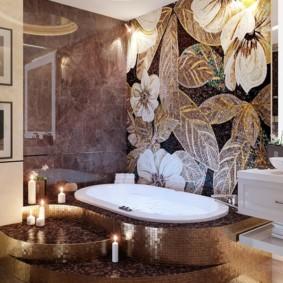 Керамогранит в отделке ванной комнаты