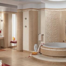 Дизайн ванной комнаты в пастельных оттенках
