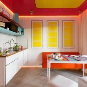 Красный цвет в дизайне кухонного помещения