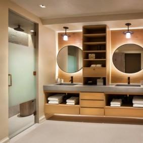 Освещение ванной в современном стиле