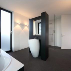 Минимализм в интерьере современной ванной