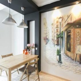 Декор стены кухни в индустриальном стиле