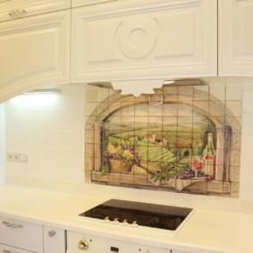 Варочная панель индукционного типа в кухонной столешнице
