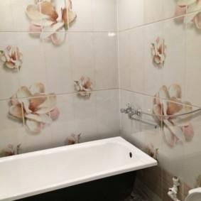 Металлическая ванна прямой формы