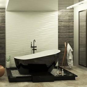 3D панели из пластика в ванной комнате