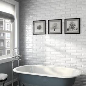Декор ванной комнаты модульными картинами